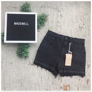 NWT Madewell High Rise Shorts with Drop Hem